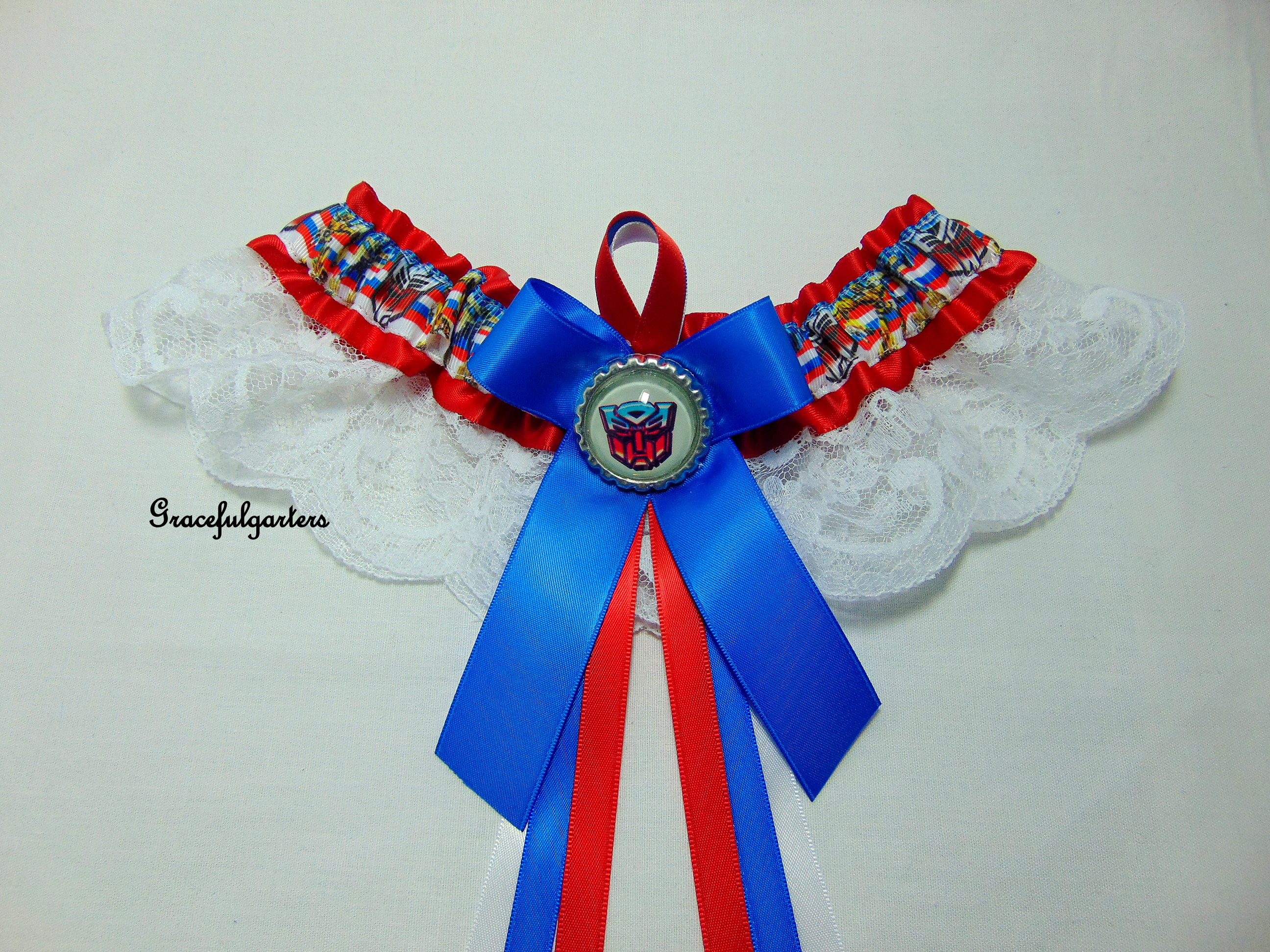 Transformers lace Bridal Wedding Garter