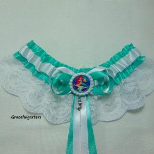 The Little Mermaid Tropical Disney Bridal Wedding Garter