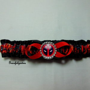 Deadpool Superhero Super Villain Bridal Wedding Garter