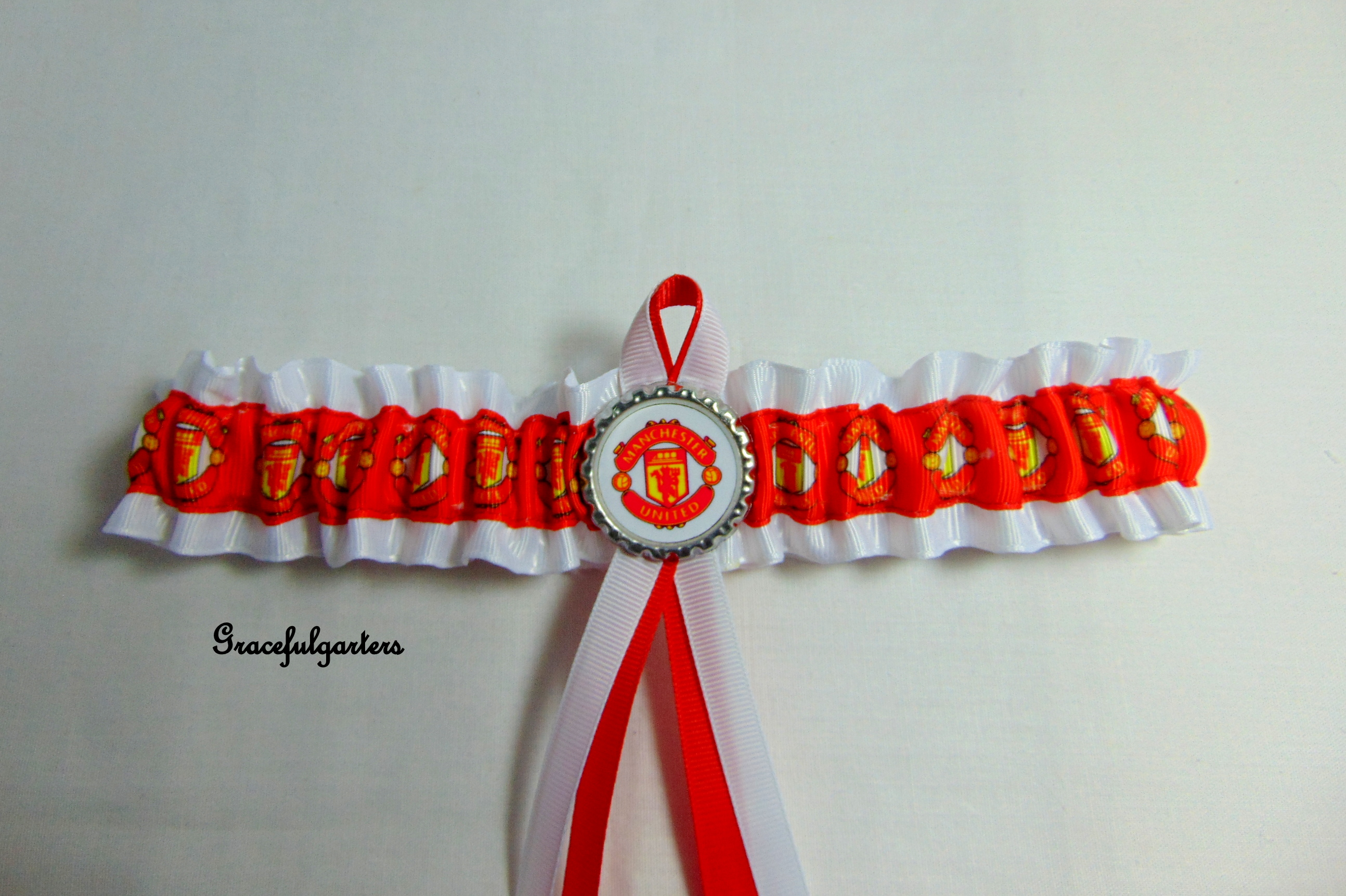 Manchester united football bridal wedding garter