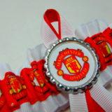 Manchester united football bridal wedding garter