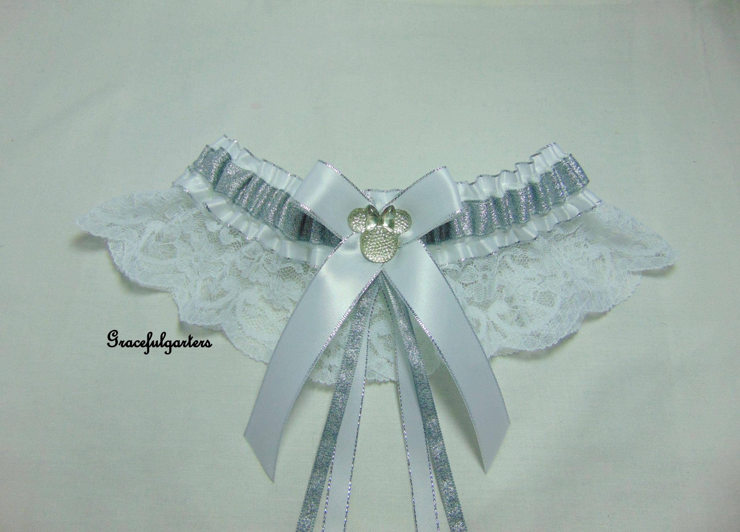 Minnie Mouse Lace Disney Bridal Wedding Garter