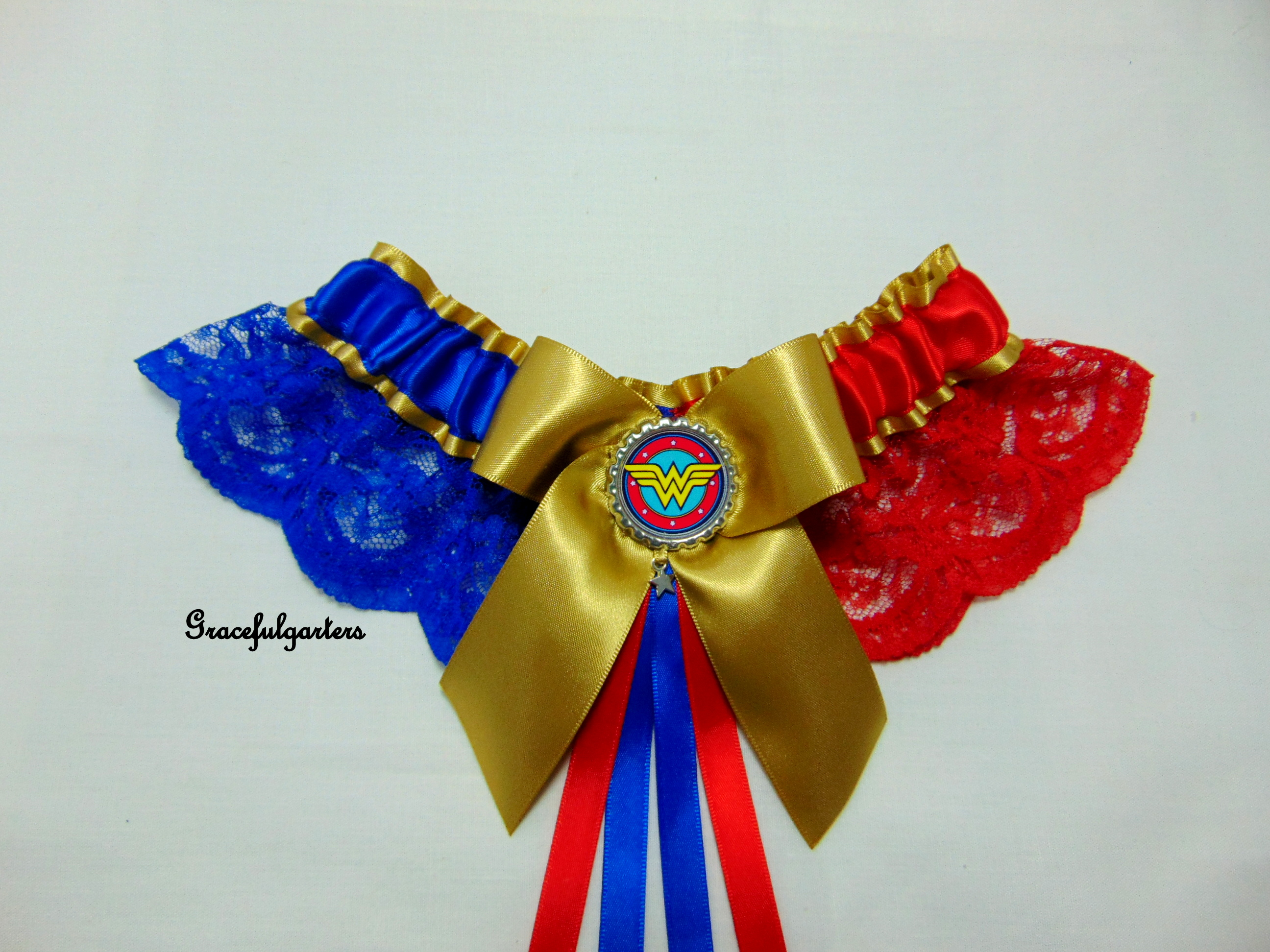 Wonder Woman Lace Bridal Wedding Garter