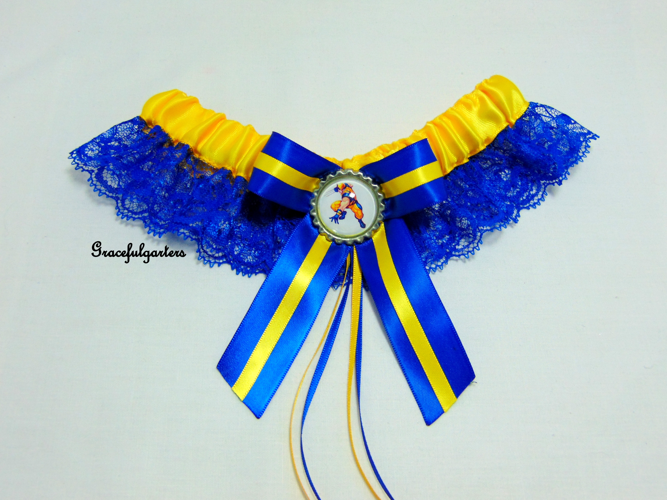 Wolverine x-men Logan Lace Wedding Garter.