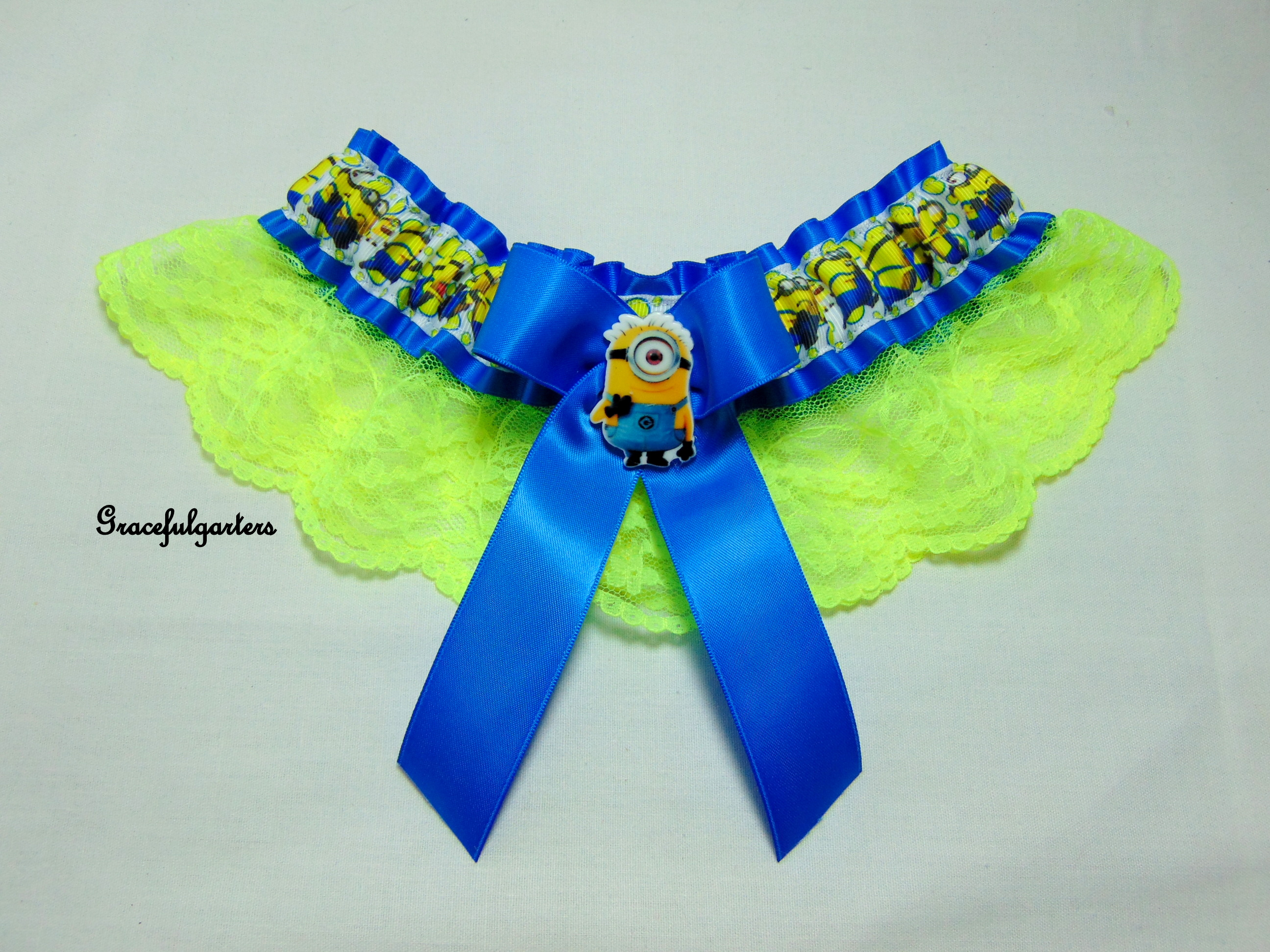 Minions Lace Bridal Wedding Garter