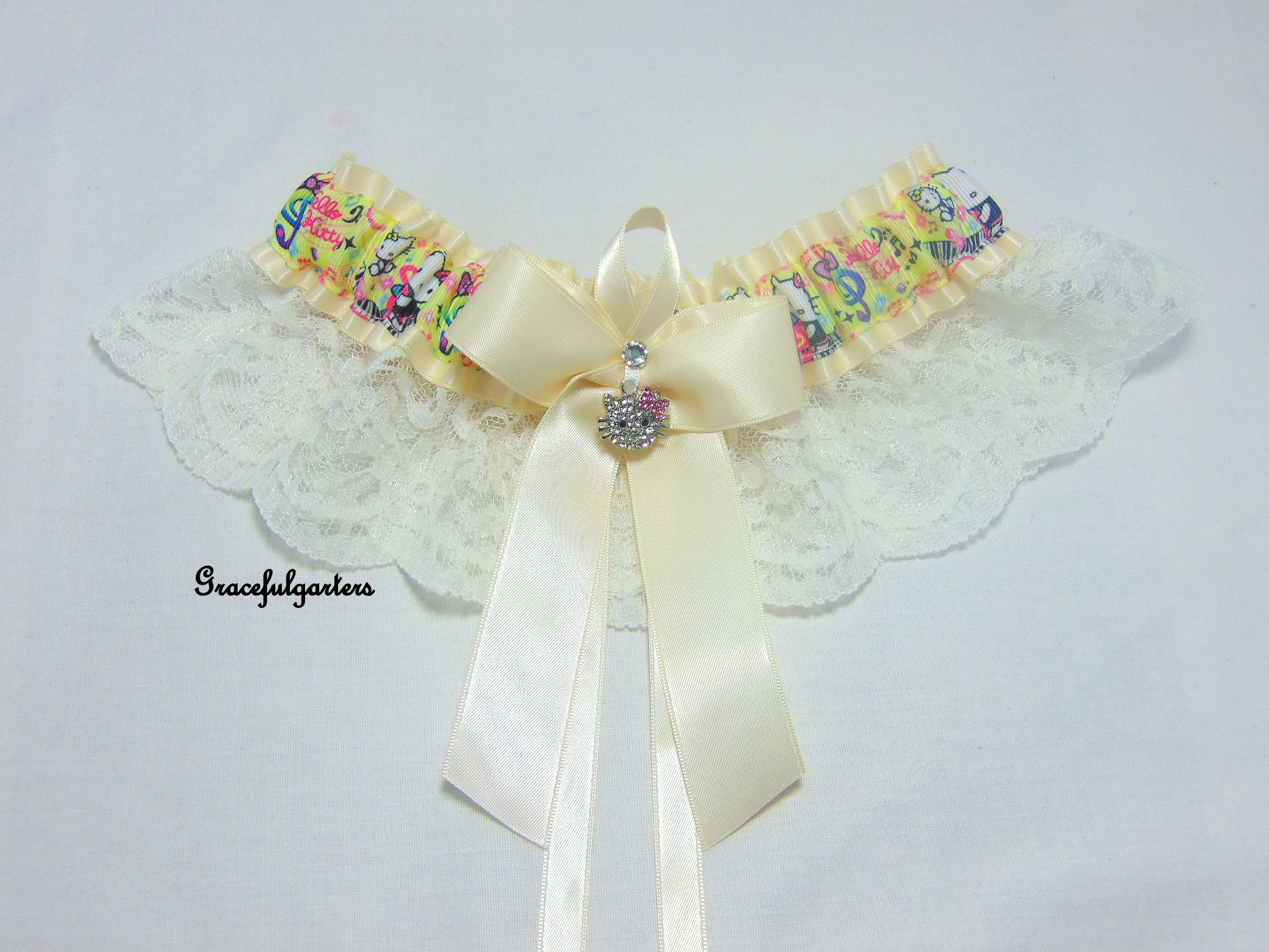 Hello Kitty Lace Bridal Wedding Garter