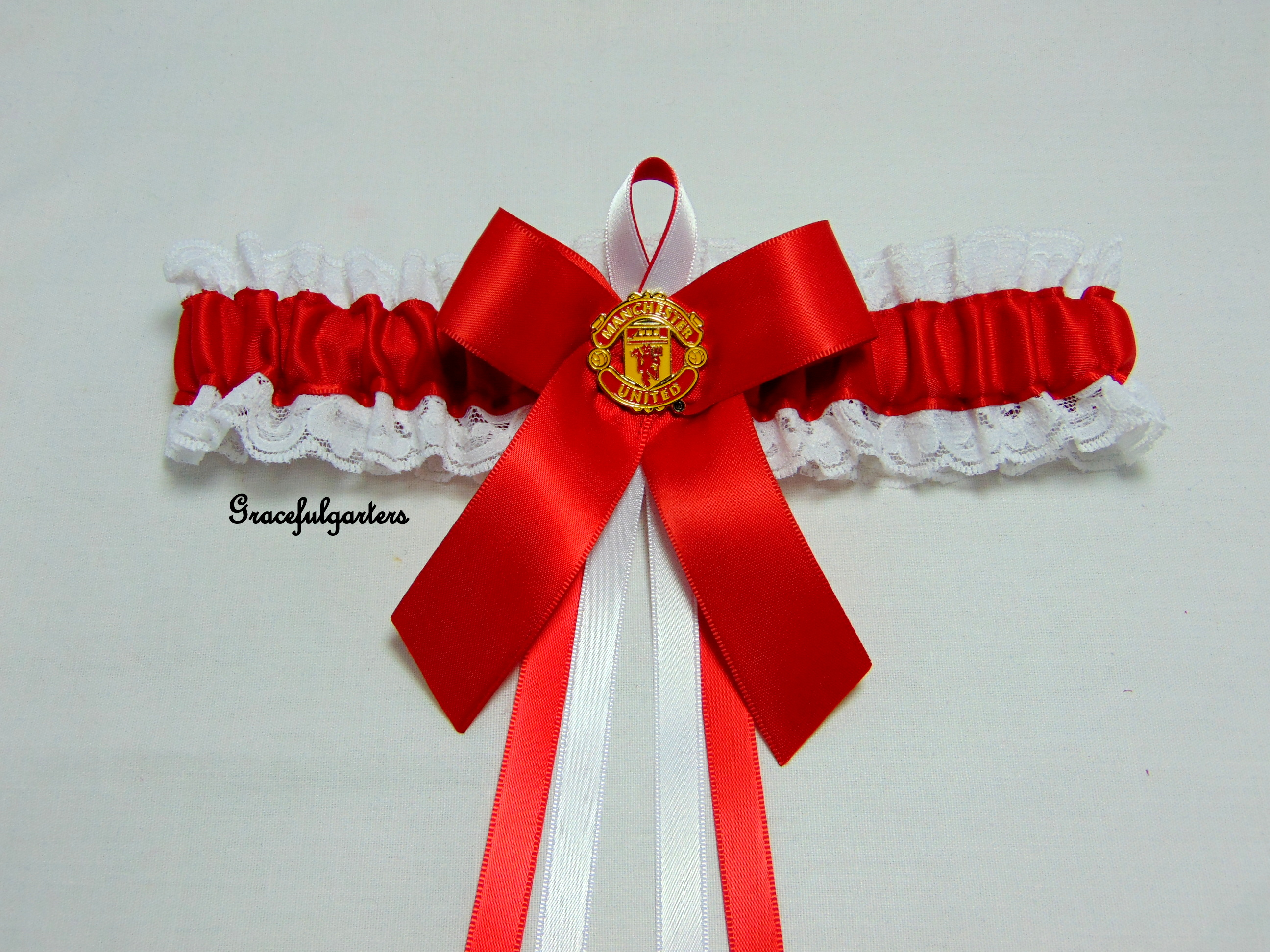 Manchester United Lace Football Bridal Wedding Garter