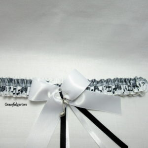Musical Note Bridal Wedding Garter