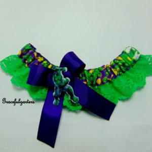 Hulk Avengers Superhero Bridal Wedding Garter