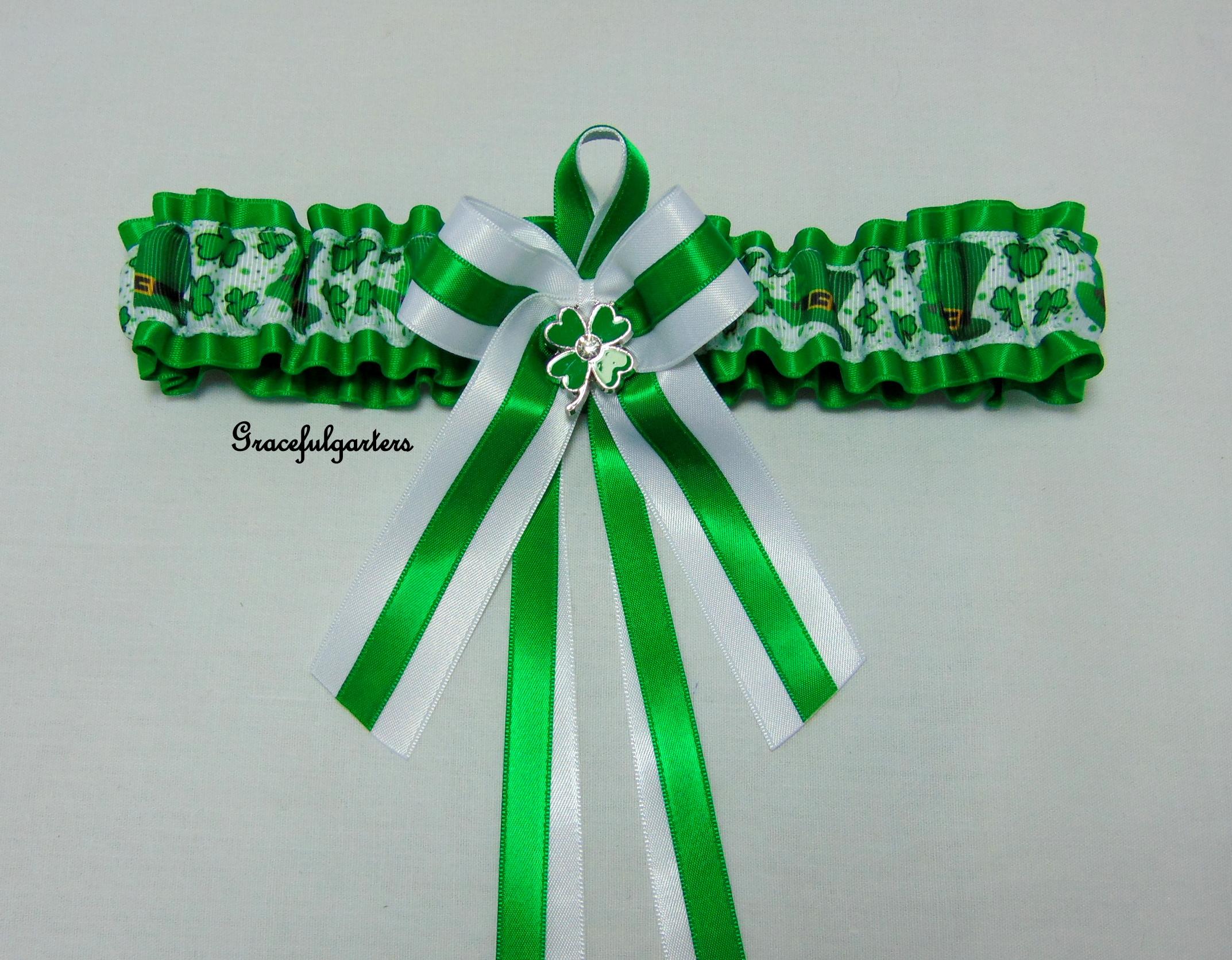 irish clover leaf garter