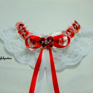 Minnie & Mickey Mouse Lace Disney Bridal Wedding Garter