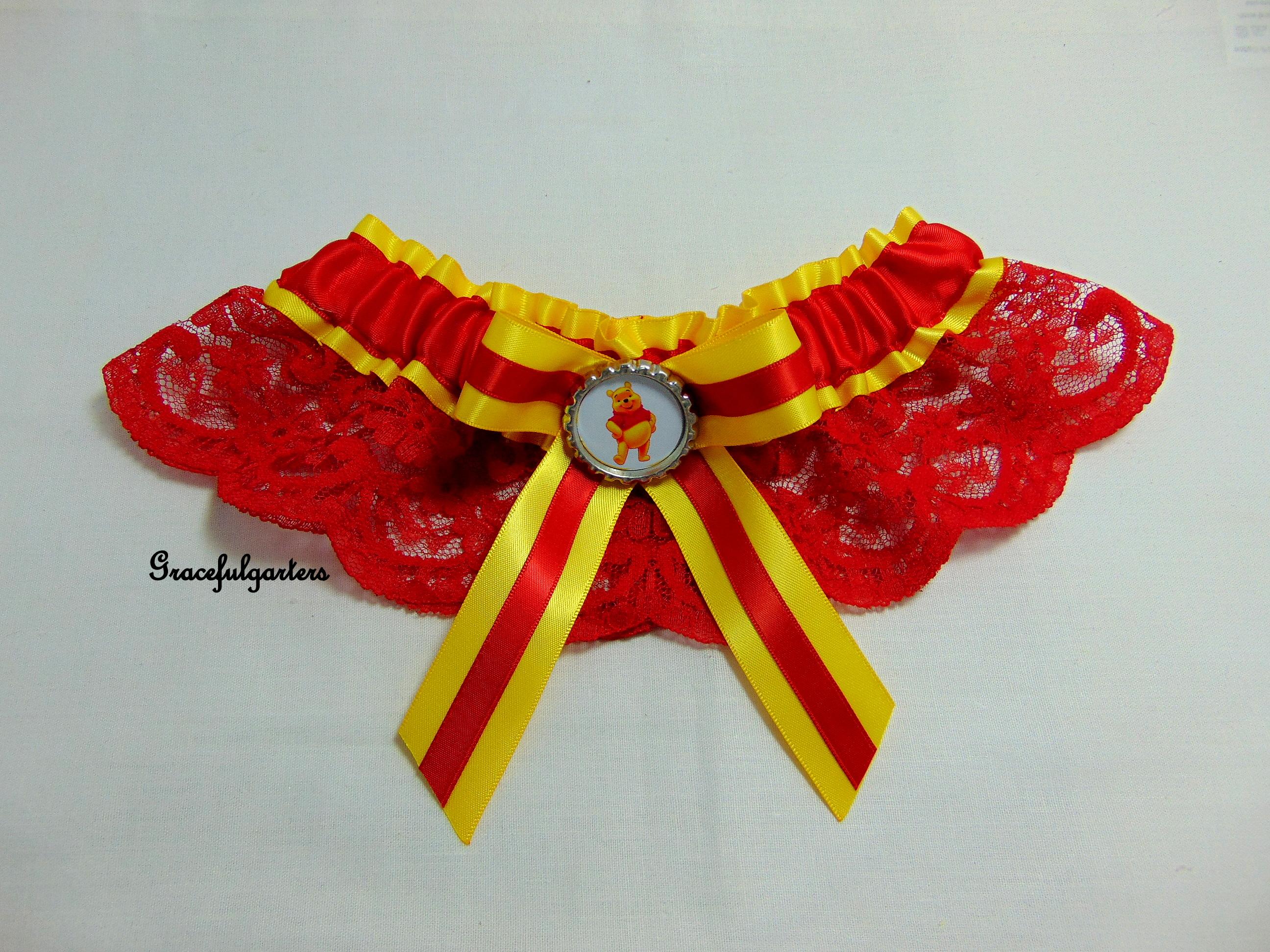 Winnie The Pooh Lace Disney Bridal Wedding Garter