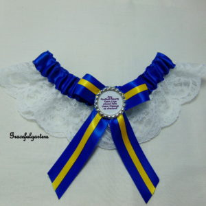 Leeds United Football Team Bridal Wedding Garter