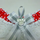 Minnie Mouse Sparkle Lace Disney Bridal Wedding Garter