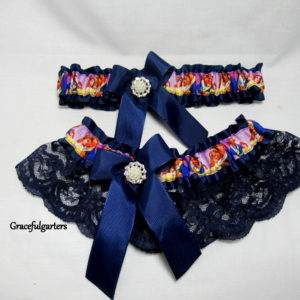 beauty and the beast garter set
