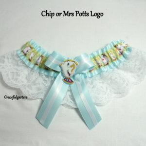 Disney Chip Or Mrs Potts Bridal Wedding Garter