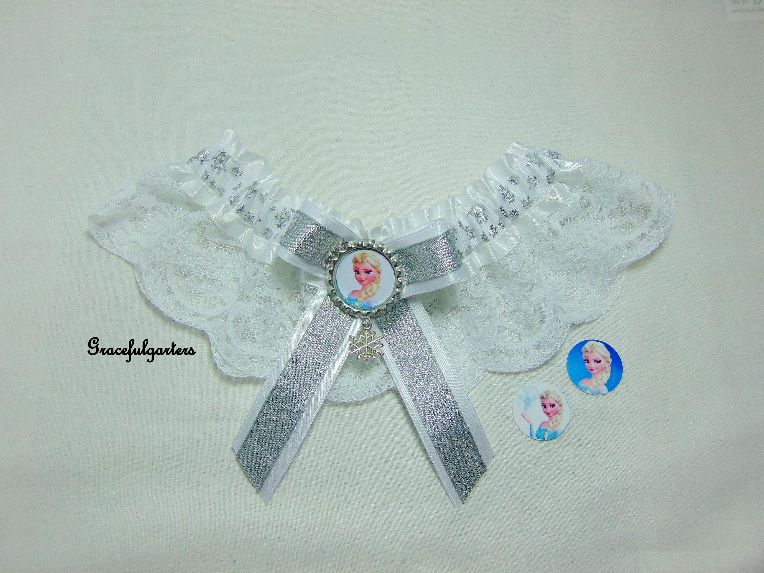 Frozen Elsa Lace Disney Bridal Wedding Garter
