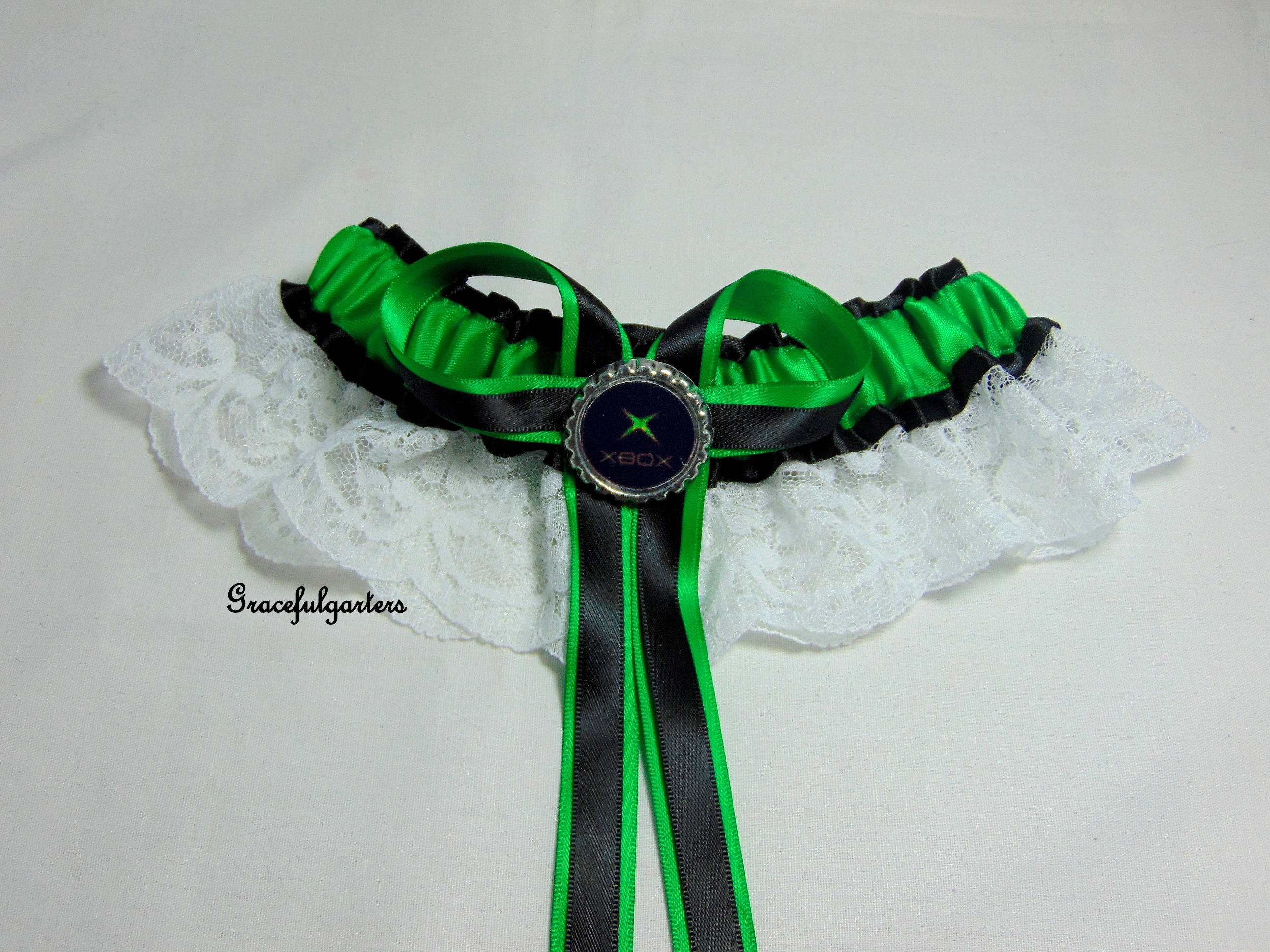 Ninetendo X Box Lace Bridal Wedding Garter