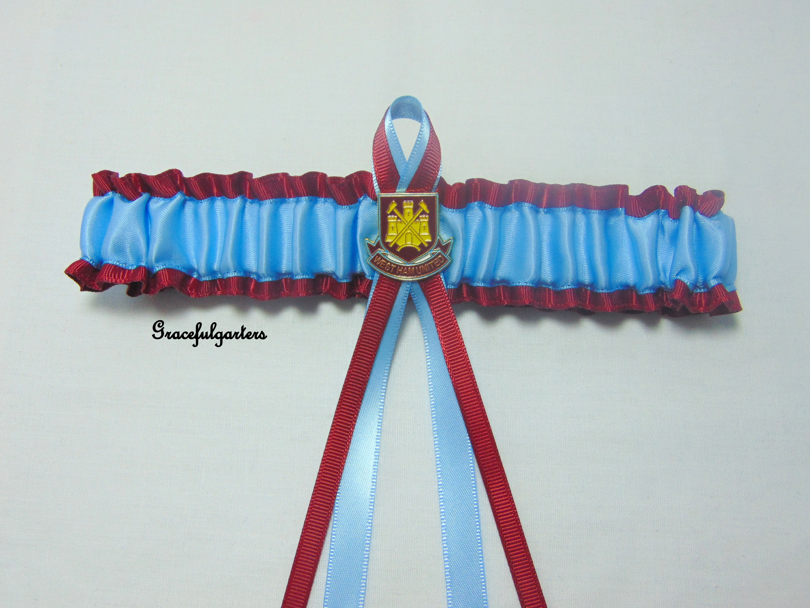 West Ham Football Team Bridal Wedding Garter