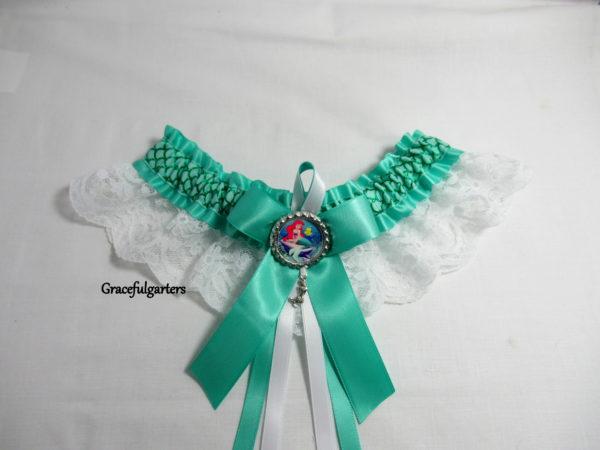 Ariel The Little Mermaid Tropical Disney Lace Wedding Garter