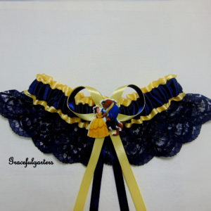 isney Beauty and the Beast Golden Lace Bridal Wedding Garter