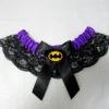 Batman purple Lace Bridal Wedding Garter