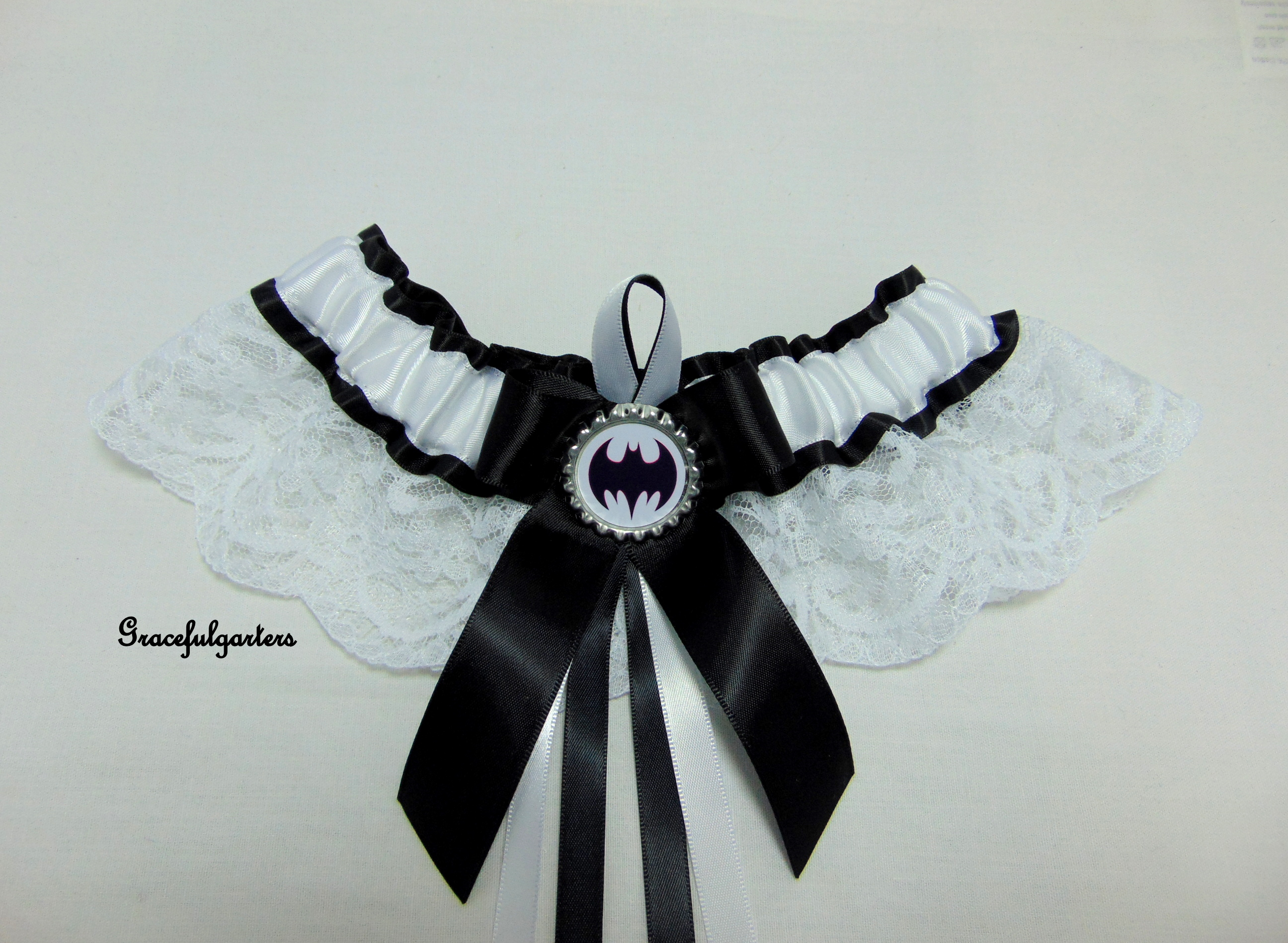 batman superhero Bridal wedding Garter