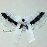 suicide squad harley quinn bridal wedding garter.