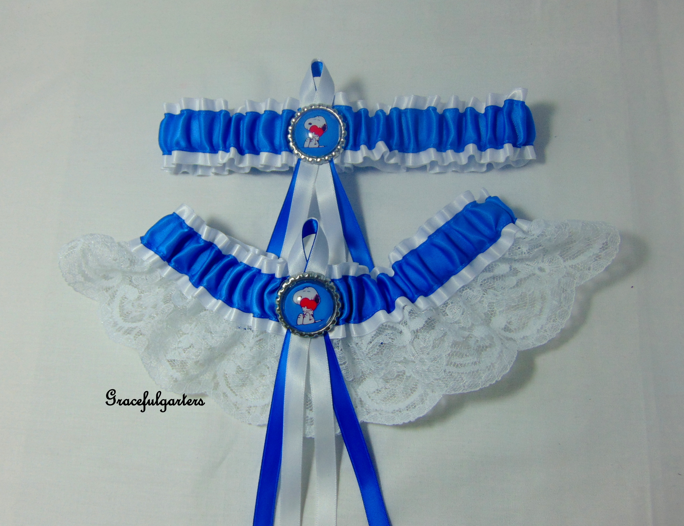 peanuts Snoopy Lace Bridal Wedding Garter set