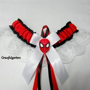Spiderman Lace Bridal Wedding Garter