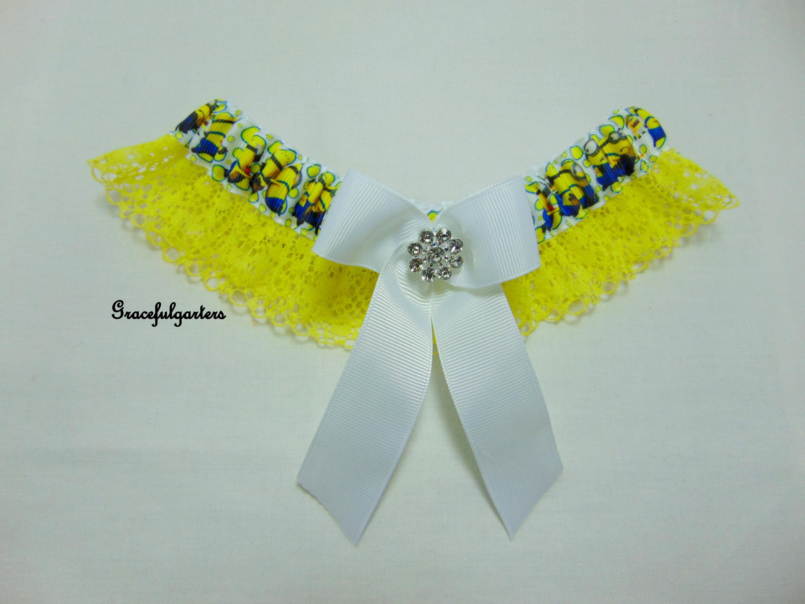 Minions Lace Bridal wedding Garter
