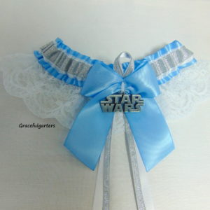Starwars Silver Lace Bridal wedding Garter