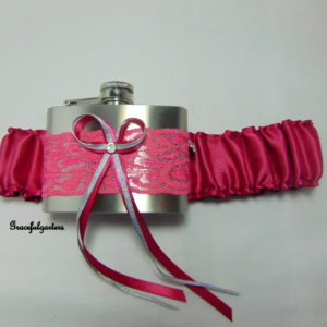 Victorian Rose Hip Flask Bridal Wedding Garter