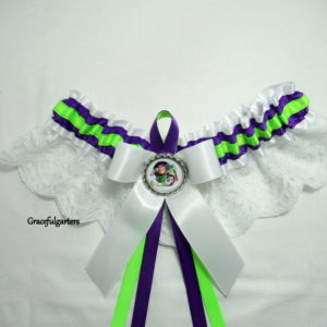 Disney Toy Story buzz lightyear Lace Bridal Wedding Garter