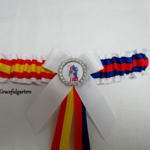 Captain America & Wonder Woman Half n Half Bridal Wedding Garter.