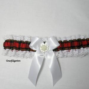 Wallace Scottish Tartan Burns Night Bridal Wedding Garter