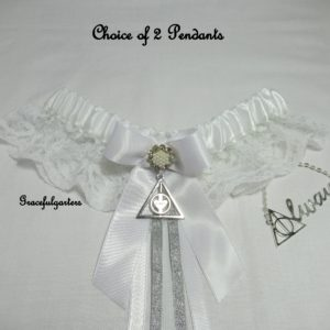 Harry Potter Deathly Hallows after all this time Lace Wedding garter.