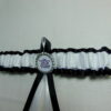 Black And White Football Sports Team Bridal Wedding Garter