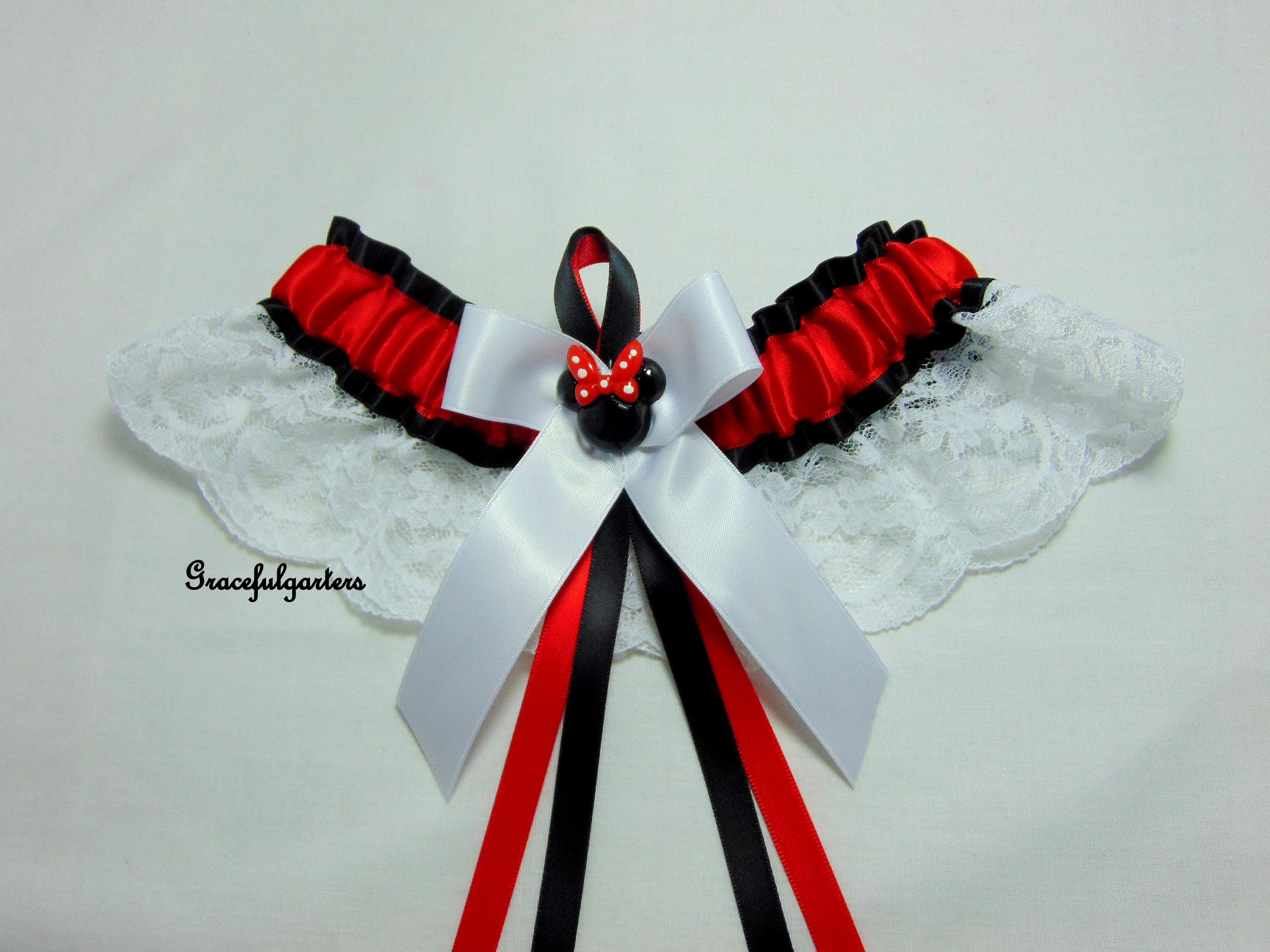 Minnie Mouse Disney Lace Bridal Wedding Garter