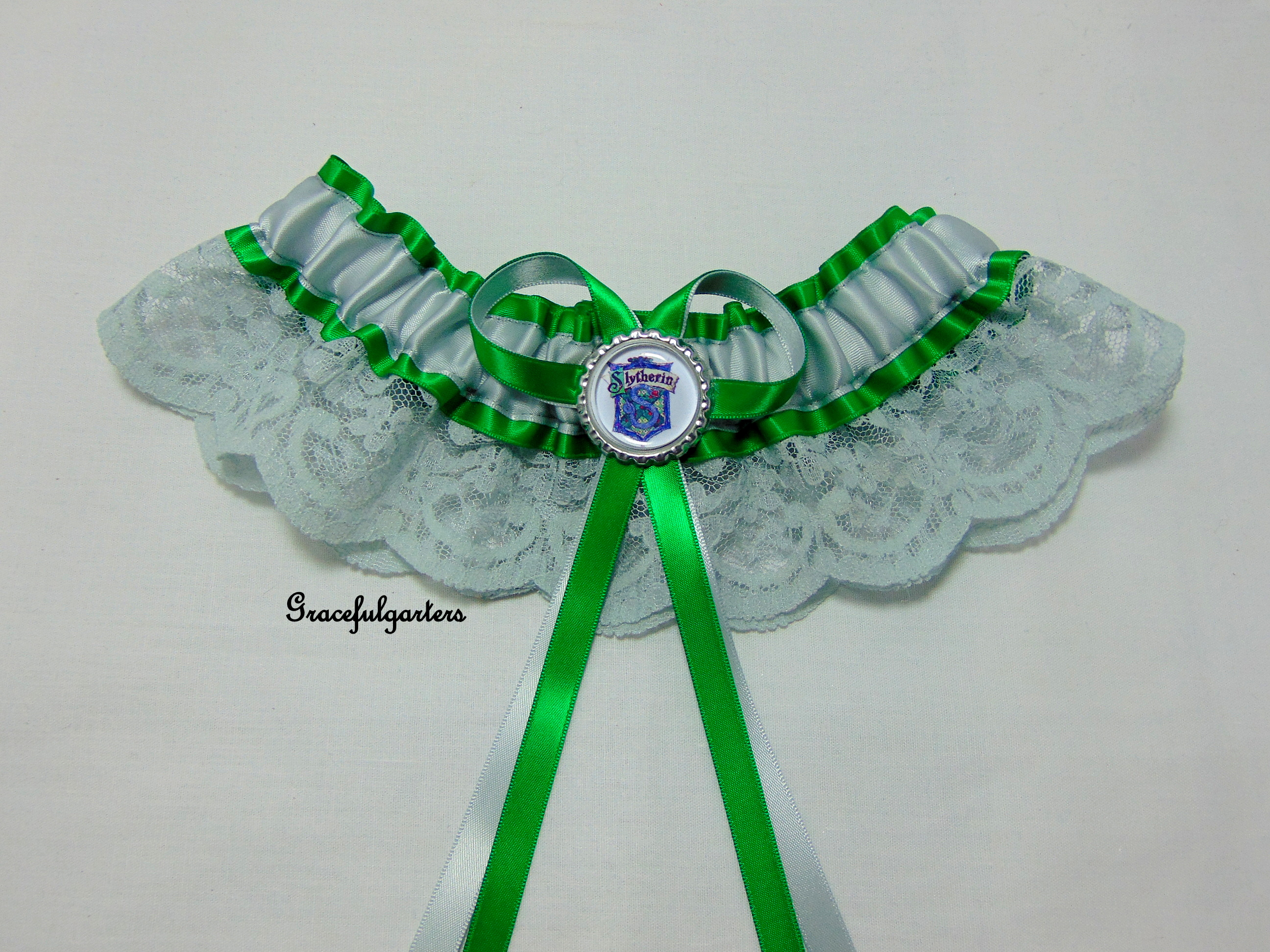 Harry Potter Slytherin Bridal Wedding Garter