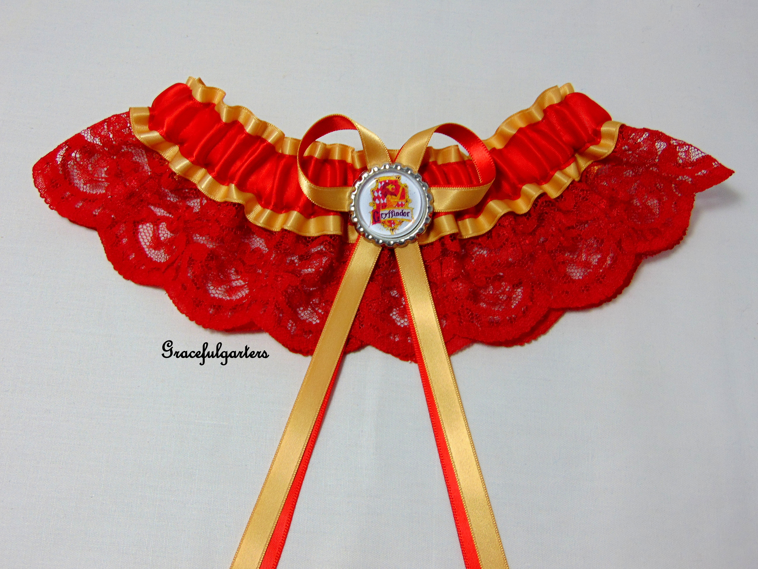 Harry Potter Gryffindor Lace Bridal Wedding Garter