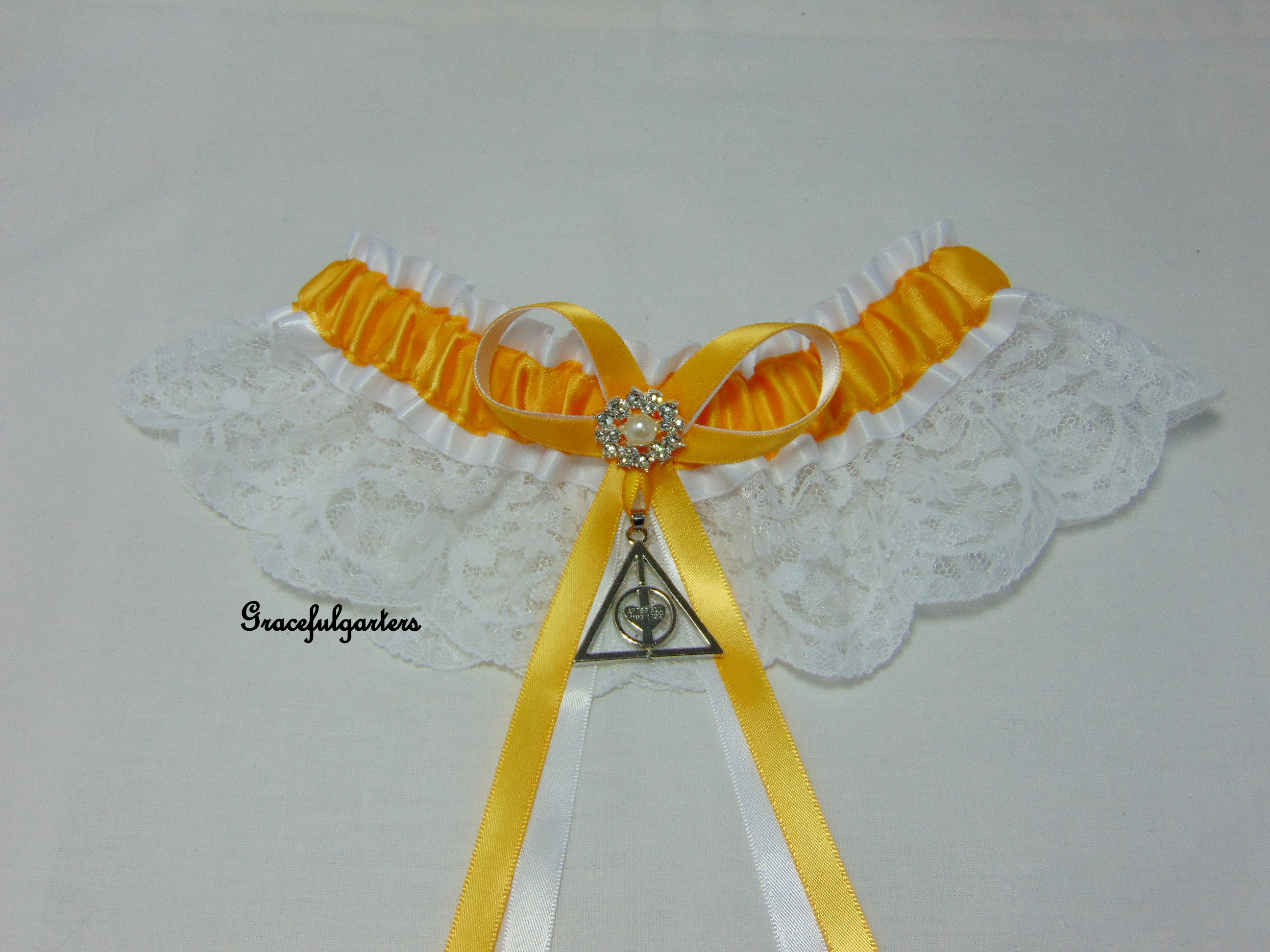 Harry Potter Deathly Hallows Always After All This Time Lace Wedding Garter.