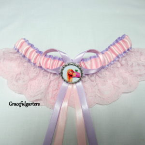 Princess Rapunzel Tangled Disney Bridal Wedding Garter