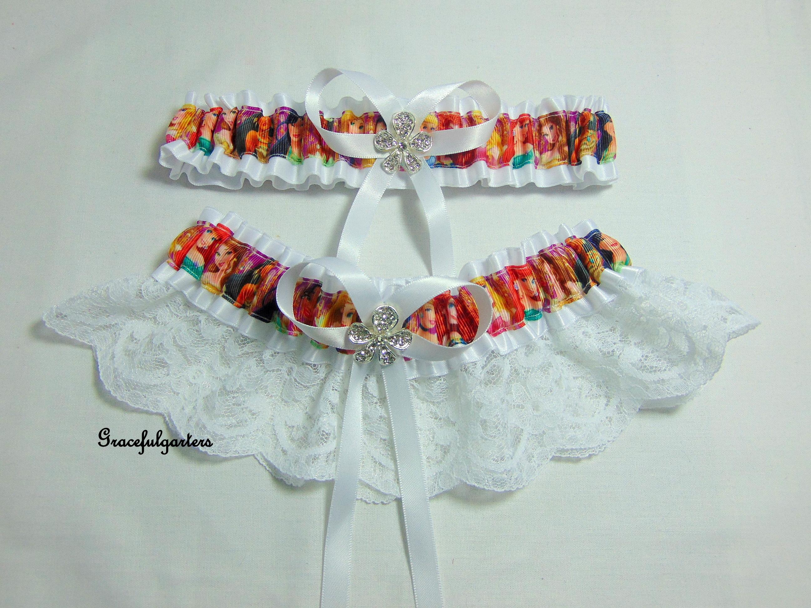 Disney Princess Lace Bridal Wedding Garter