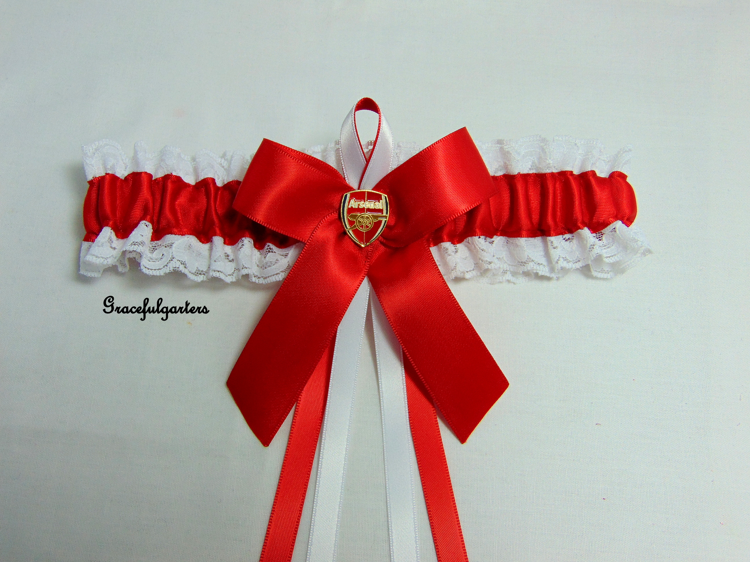 Arsenal Lace Trimmed Football Team Bridal Wedding Garter