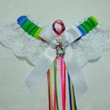 Winged Unicorn Rainbow White Lace Bridal Wedding Garter