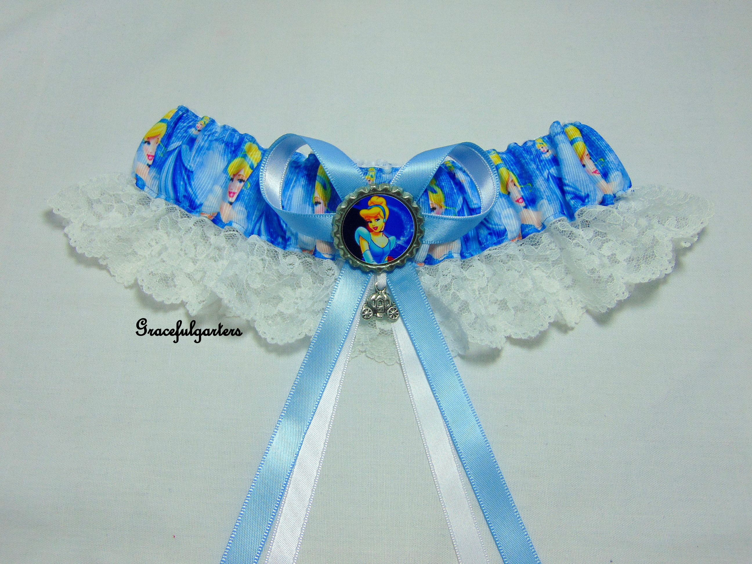 Disney Cinderella Bridal Themed Lace Wedding Garter