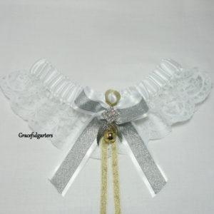 Harry Potter Golden Snitch Quidditch Lace Wedding Garter.