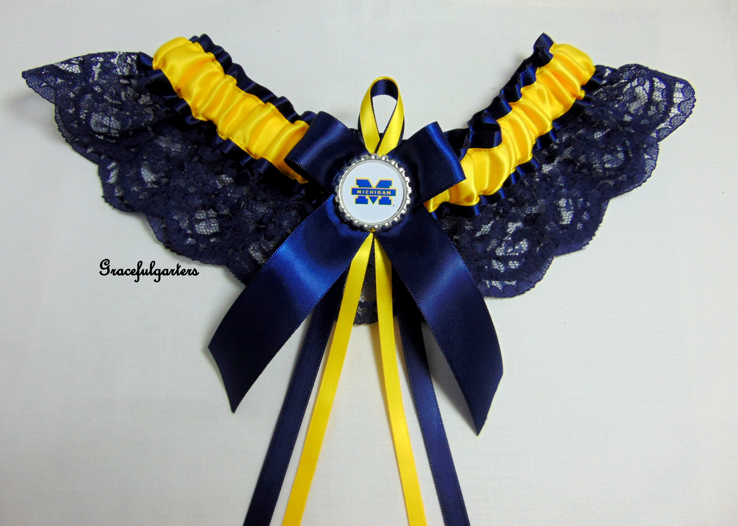 Mitchigan American Football Team Lace Bridal Wedding Garter