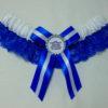 Royal Blue And White Lace Football Team Sports Bridal Wedding Garter